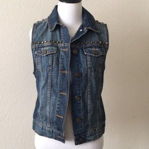 BDG Urban Outfitters studded denim vest